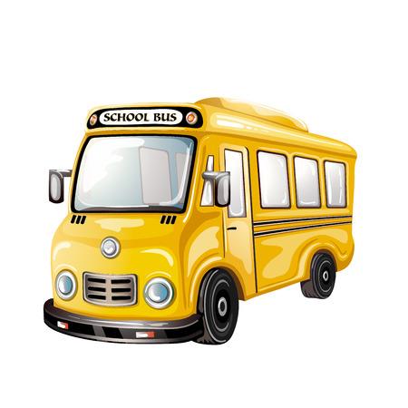 スクールバスのイラスト