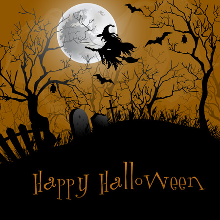 traditional house: Happy Halloween Background.