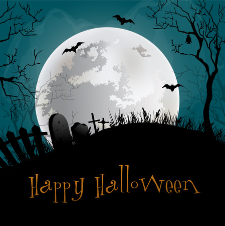 black background: Happy Halloween Background.
