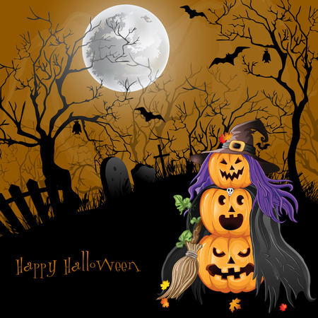 Halloween Party Background. Vector