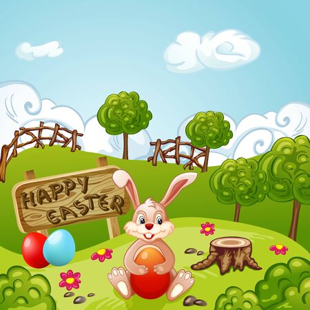 Easter Holidays Background Illustration