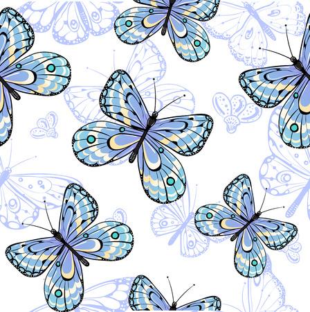 Seamless pattern of butterflies Illustration