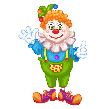 clown cirque: Clown mignon de bande dessin�e. Illustration