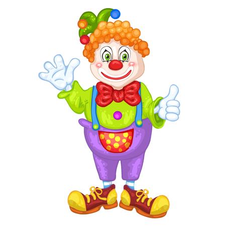 birthday clown: Cute cartoon clown.
