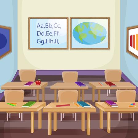 空き教室のイラスト