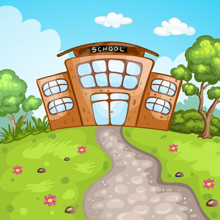 school building: Illustration of school building