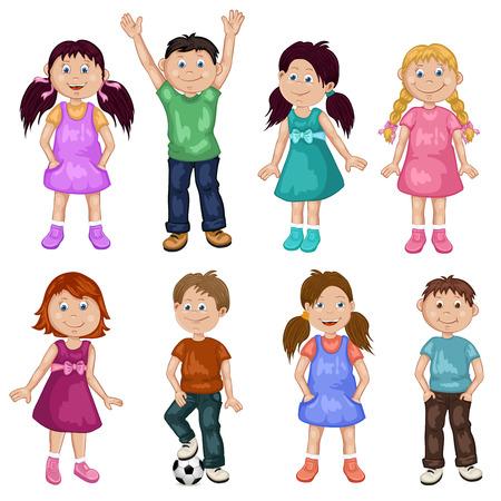 Cute children cartoon collection 일러스트