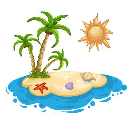 desert island: Illustration of a desert island