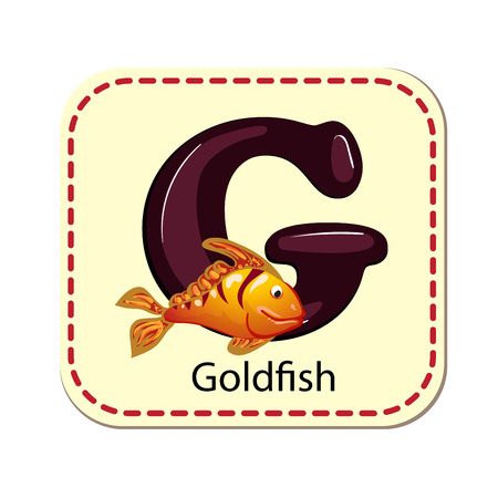 ration: ration of isolated alphabet G for goldfish