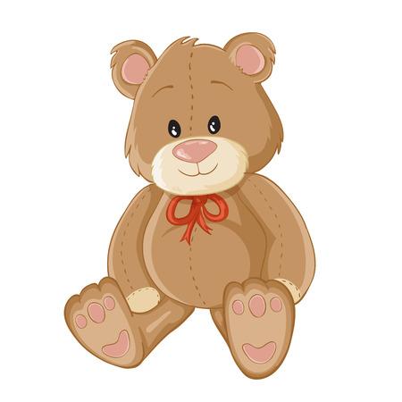 oso blanco: Ilustración del oso de peluche
