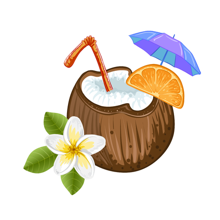 freshens: Exotic coconut cocktail Illustration