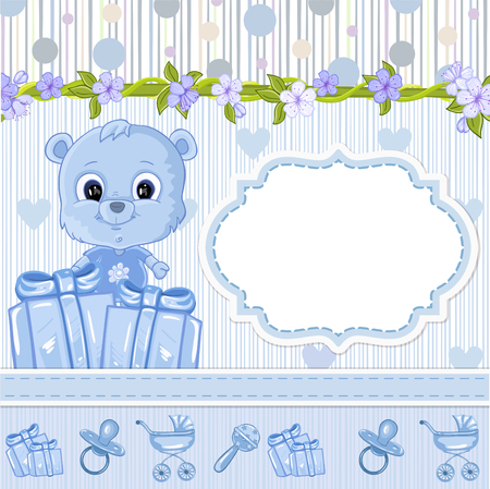 baby bear: Teddy bear for baby . Baby shower invitation