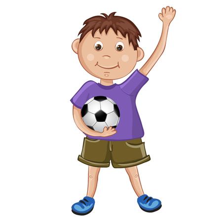 El muchacho lindo que juega a fútbol
