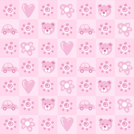 baby girl: Pattern background for baby girl
