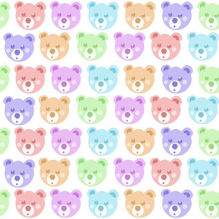bruin: Teddy bear seamless pattern. Illustration