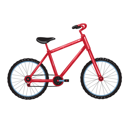 vitality: Illustration of a red bicycle Illustration