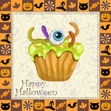 awful: Happy Halloween frame with awful cake
