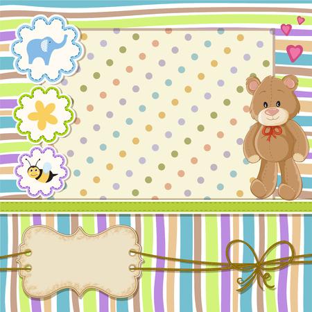 Teddy bear for baby . Baby shower invitation