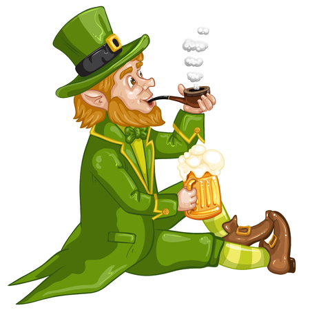 Cartoon Leprechaun . St. Patricks Day.