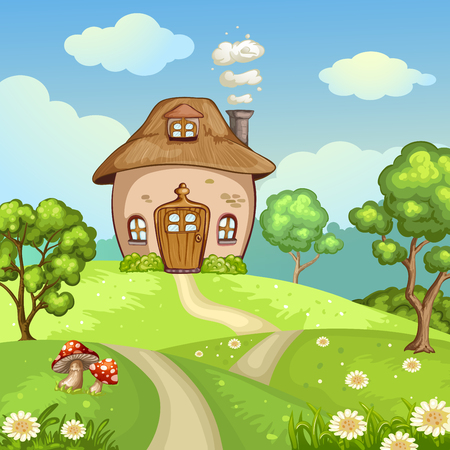 Cute little house on the hill