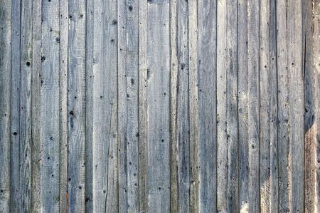 metal fastener: Shades of blue weathered wood background with vertical planks. Stock Photo