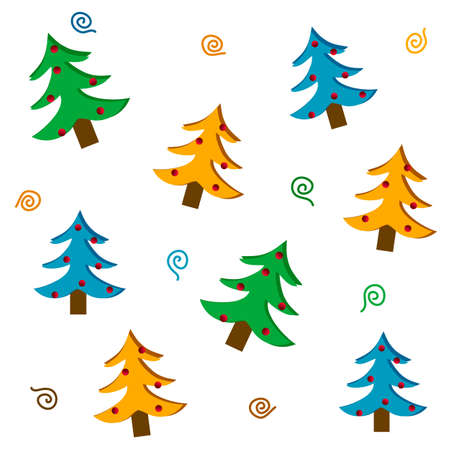 Set of stylized Christmas trees, vector images Stock Vector - 17123147