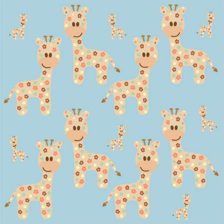 Seamless background with giraffe Stock Vector - 17123158