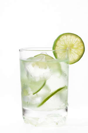 citric: Glass of cold natural lemonade Stock Photo