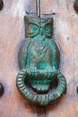 door knocker: Door knocker owl shaped