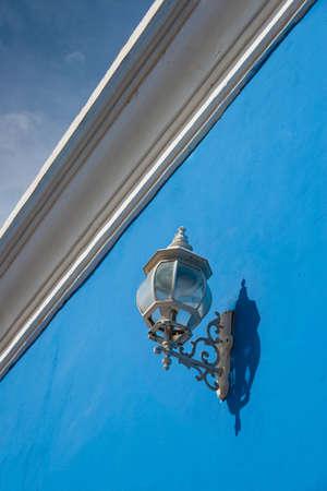 cartagena: Antique street lantern in Cartagena de Indias