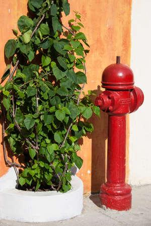 cartagena: Antique hydrant in Cartagena de Indias Stock Photo