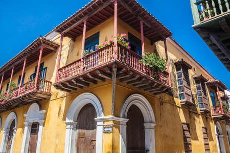 cartagena: Corner of Cartagena de Indias Stock Photo