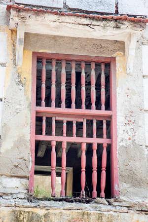 rickety: Window of Cartagena de Indias