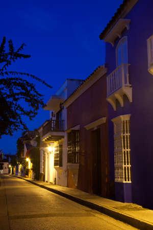 hobo: Cochera del Hobo Street in Cartagena de Indias just before sunrise