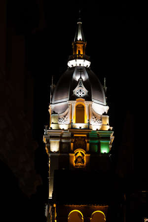 a nocturne: Metropolitan Cathedral Basilica of Saint Catherine of Alexandria Stock Photo