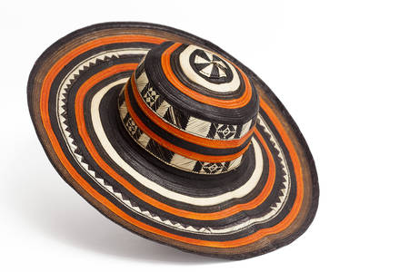 Traditional hat from Colombia: Sombrero vueltiao Stock Photo