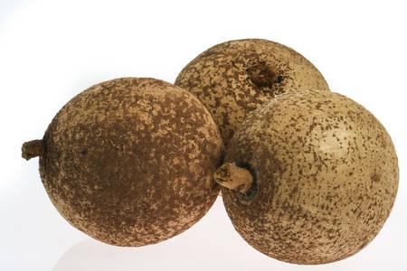 Tropical fruit -  mammee apple (Mammea americana) Stock Photo