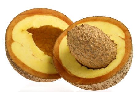 americana: Tropical fruit -  mammee apple (Mammea americana) Stock Photo