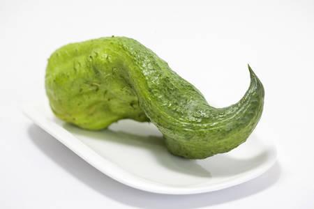 Stuffing cucumber (Cyclanthera pedata) Stock Photo