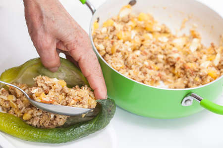 stuffing: Filling the stuffing cucumbers