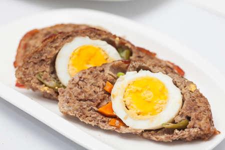 meatloaf: Egg and Vegetables stuffed meatloaf Slices