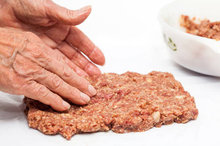 meatloaf: Mix of bread and meat for the stuffed meatloaf