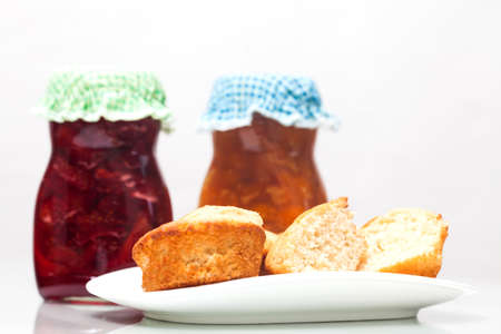 jams: Homemade jams and bread