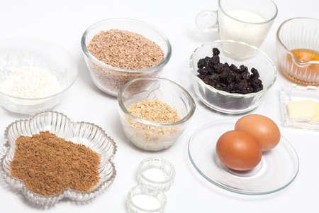 panela: Wheat bran muffins preparation : Ingredients to prepare integral wheat bran muffins