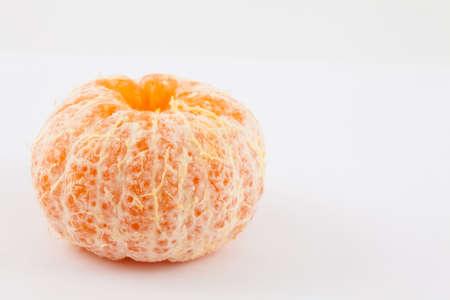 Mandarine (Citrus reticulata) isolated in white background Stock Photo