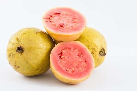 Guava (Psidium guajava) isolated in white background Stock Photo