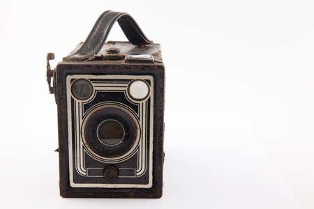 Antique camera isolated on white background Stock Photo