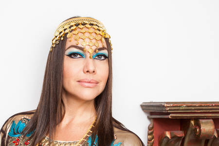 Woman dressed as Cleopatra for Halloween