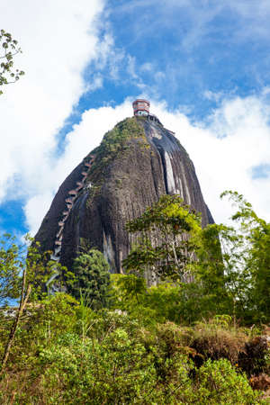 Monolithic stone mountain at Guatape, Colombia
