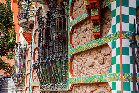 Antoni Gaudis designed Vicens House in Barcelona, ??Spain